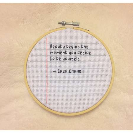Coco Chanel Quote Notebook Hoop thumb