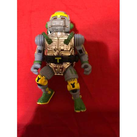 Teenage Mutant Ninja Turtles Action Figure Metal Head+Original Backpack! And Belt Rare! 1990s thumb