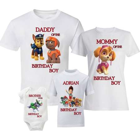 Paw Patrol Birthday Shirts Family T Shirt Ryder Chase Skye Zuma Rocky Rubble