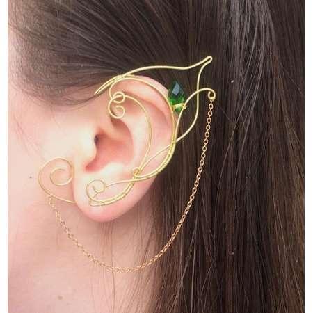 Elven ears .Earcuffs, Elf ears,cosplay,fantasy decoration for ears,elven ear,ear cuff,elvish earring,elf ear,elf lord,lord of the rings thumb