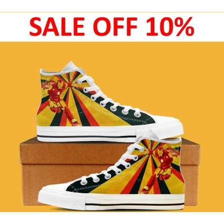 4e857601d82 Avengers Black and White Custom Shoes
