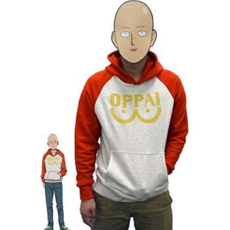 one punch man costume, One-punch man hoodie, one punch-man hoodie, one punch man jacket, Saitama Oppai hoodie, Punch-Man cosplay costume thumb