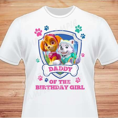 Paw Patrol Iron On Transfer Daddy Skye Everest Family Birthday Shirts Outfit Instant