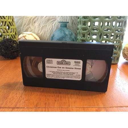 Sesame Street VHS Tape Christmas Eve On Sesame Street thumb