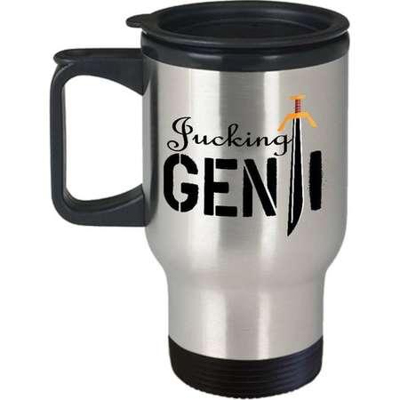 Valentine Travel  Mug | Overwatch | Fucking GENJI! | White and Black Mug | Computer Game | Cup | Geek Present |  Love Coffee Mug | Love Sign thumb