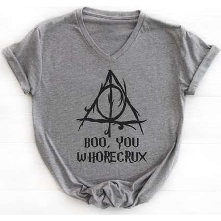 Boo, You Whorecrux Ideal V Neck Tee  * Harry Potter* thumb