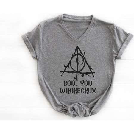 Boo, You Whorecrux Ideal V Neck Tee  * Harry Potter* thumb