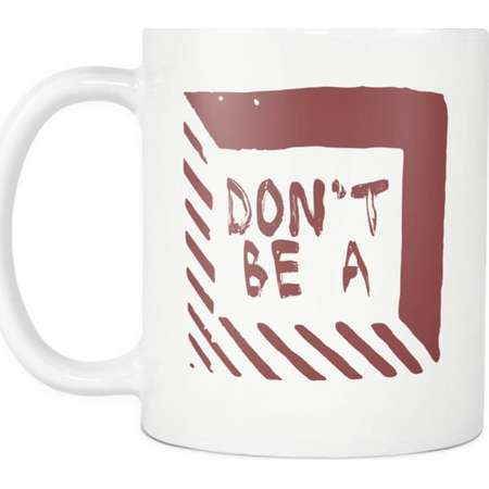 Don't Be A Square - Pulp Fiction Inspired Funny Witty Saying Coffee Mug thumb