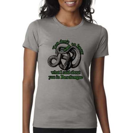 Parseltongue fandom womens tshirt slytherin inspired tee thumb