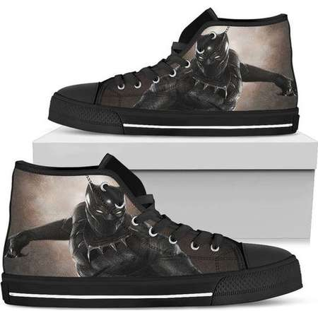 Black Panther, Custom High Top Sneakers, Wakanda, Black Panther Marvel, Marvel Black Panther, Panther, Sneakers, High Tops, T'challa, Shoes thumb