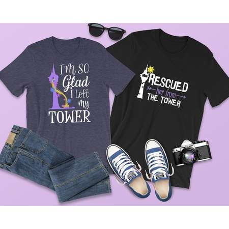 0f331aa7 Rescued Her From the Tower Shirt, Tangled Shirt for Men, Flynn Rider Shirt,  Disney Tangled Shirt, Rapunzel Left My Tower, Best Day Ever Tee