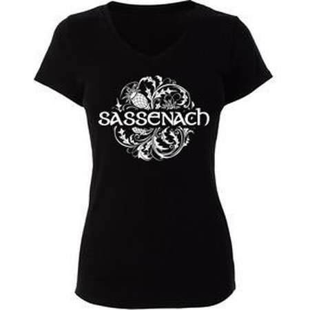 Outlander Sassenach w/ Scottish Thistle T-Shirt- Fitted or Unisex- All Colors And Sizes thumb