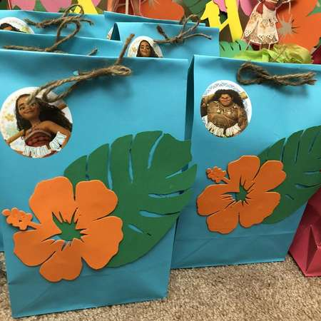 Moana Theme Party Favor Bag thumb