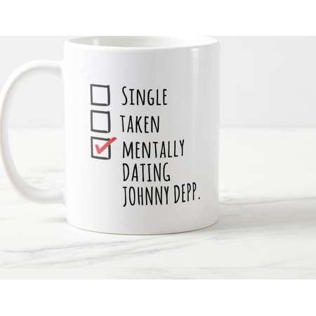 Mentally Dating Johnny Depp Mug, Johnny Depp Lover, Johnny Depp, Jack Sparrow Mug, Edward Scissorhands, Mentally Dating, Celebrity Mugs thumb