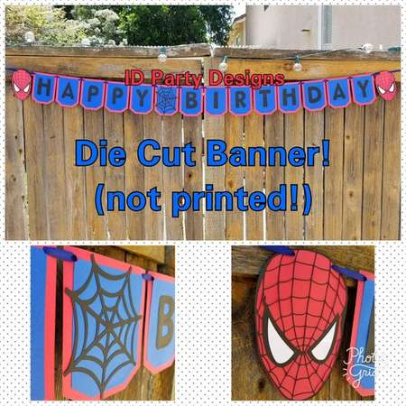 SPIDERMAN AVENGERS BANNER Avengers Birthday Super Hero Decorations Wakanda Forever Black Panther Birthday Captain America thumb