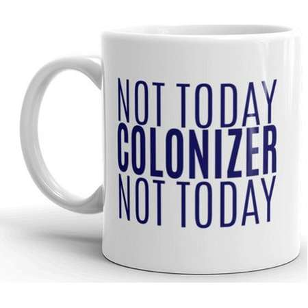 Not Today Colonizer Mug - Black Panther Mug - Wakanda Forever Mug thumb