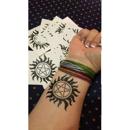 Supernatural-inspired Anti-Possession tattoos! thumb