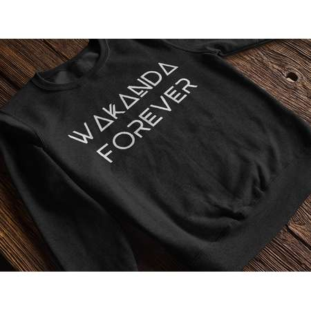 Black Panther Sweatshirt Wakanda Shirt Wakanda Forever Slogan Black Panther Marvel Mens Womens Unisex Heavy Blend Crewneck Sweatshirt thumb