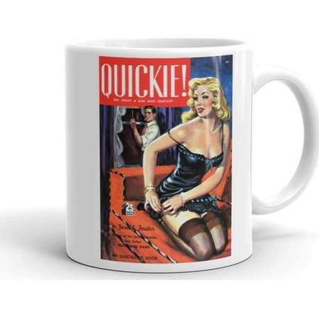 """VAMP Collection - Pulp Fiction Cover Art - Coffee Mug - """"Quickie"""" - pop art - book cover - trash novel - 1950s thumb"""
