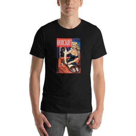 "VAMP Collection - Pulp Fiction Cover Art - Short-Sleeve Unisex T-Shirt - ""Quickie"" - pop art - book cover - trash novel - 1950s thumb"