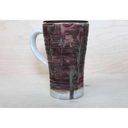 Ceramic Travel Mug - Alien Terrain (with handle and lid) thumb
