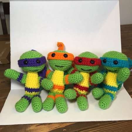 Set of 4 - Crochet Teenage Mutant Ninja Turtles thumb