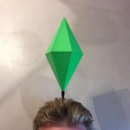 Sims HUGE Plumbob Headwear With LED / Mood Plum Bob Headband / Sim Costume / Sims Cosplay / Maxis EA Games thumb