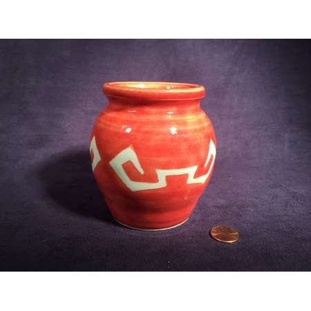 Zelda Pot BOTW - Clay Jar - Orange Ancient - Ceramic Bottle Pottery - Breath of the Wild - Legend of Zelda - Pencil Holder - Small Pot thumb