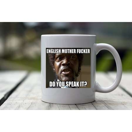 English Mother F***er Do You Speak it, Pulp Fiction Mug, Pulp Fiction Coffee Mug, Pulp Fiction Mug Movie Quote Coffee Mug, Movie Quote Gift thumb