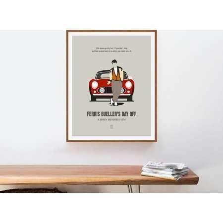 Ferris Bueller's Day Off - Minimalist Poster, John Hughes Movie, Matthew Broderick, John Hughes, The Breakfast Club, Sixteen Candles thumb