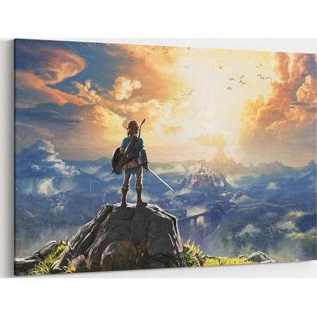 Zelda Canvas Wall Art Legend of Zelda Canvas Prints Link Poster Breath of the Wild Canvas Art Painting Wall Decor Artwork Decal thumb