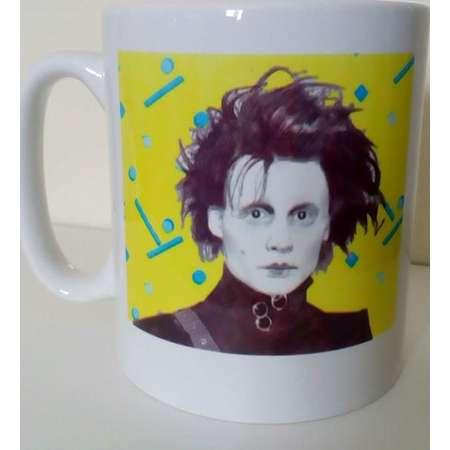 Edward Scissorhands Johnny Depp 80s inspired Mug. thumb