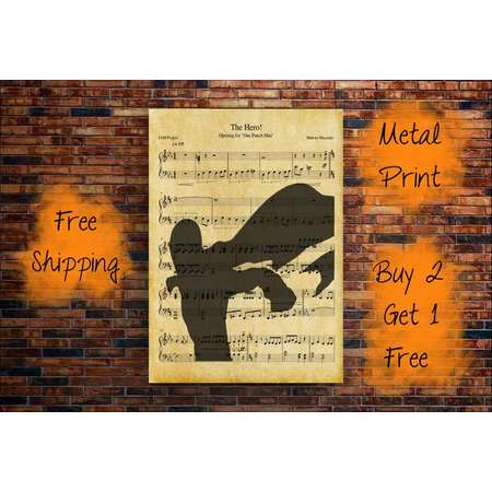 One Punch Man Music Sheet-One Punch Man Music Art Print-Anime Music Art Prints-Anime Prints-Music Art Prints-Metal Prints-Anime Decour thumb