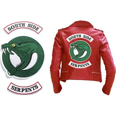 Riverdale South Side Serpente Patches iron-on sew-on for leather jacket biker Tags Badges Embroidery Logos applique Jacket patch badge embl thumb