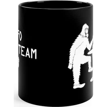 Big Foot And Alien Black Mug 11Oz thumb
