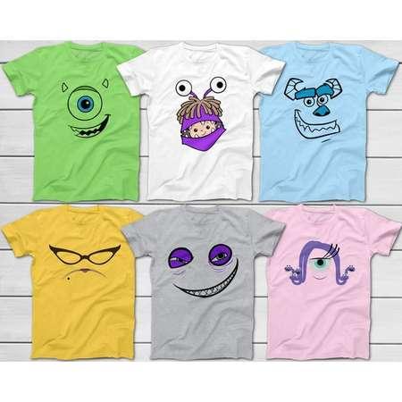 monsters university mike wazowski james p sullivan sully roz randall boggs celia halloween group costume t shirts disney trip 2018