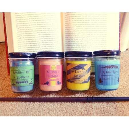 Harry Potter Hogwarts House Fandom Inspired Soy Candles thumb