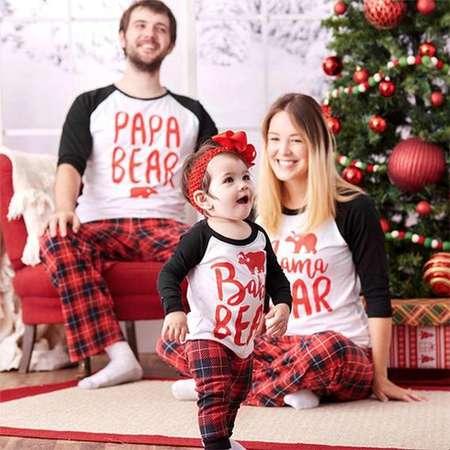 Christmas Family Matching Pajamas Set • Christmas Pjs Papa, Mama, Kids, Baby Matching Family Pajamas. Sets for The Family thumb