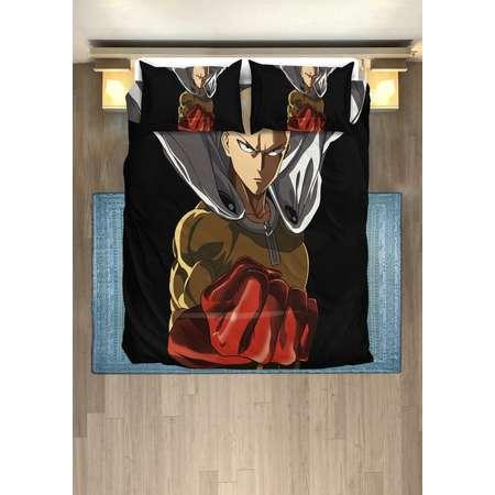 One Punch Man Duvet Saitama bedding set Twin, Queen, King size bedding, bedroom duvet set plus 2 pillow covers thumb