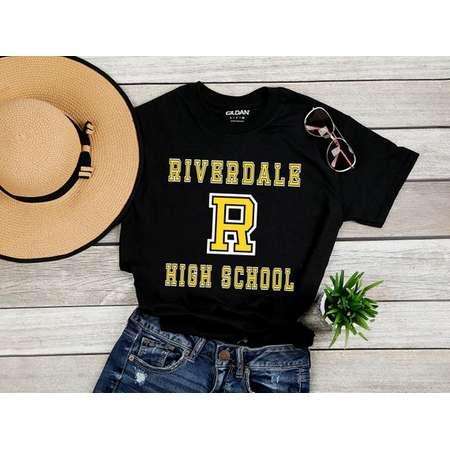 Riverdale Yellow Logo  Tee  Riverdale Collegiate TShirt  Riverdale High School Varsity Tee  Riverdale Shirt thumb