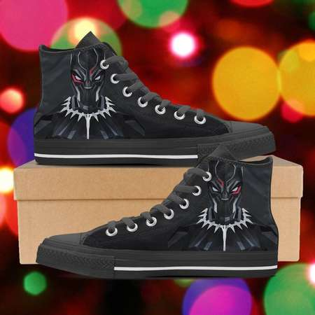 Black Panther shoes, Black Panther high tops, Black Panther sneakers, look like converse, Women's Men's Kid's Hi Tops, clothing thumb