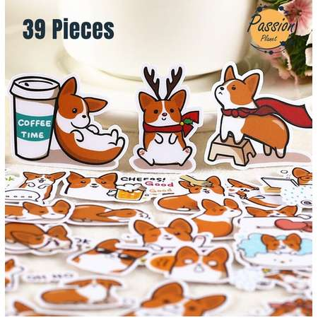 39 Pcs Coco dog Stickers. Cute Vinyl Stickers. Waterproof bombing Stickers For Laptop Phone Car Bike Skateboard Snowboard Scrap-booking DIY thumb