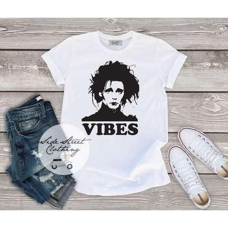 Edward Scissorhands Vibes inspired T shirt - baby, toddler, youth, women, men, goth, gothic, me, halloween, punk, Tim burton, Johnny Depp thumb