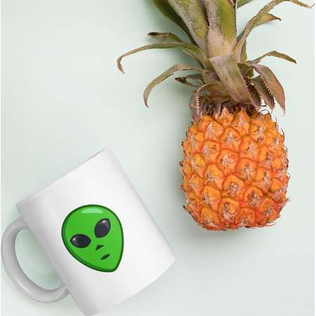 Alien Face Emoji Mug Alien Head Emoji Coffee Mug Alien Mug Alien Cup Extraterrestrial Cup With Emoji Drinkware Fun Gift Mug Emoji Gift Cup thumb
