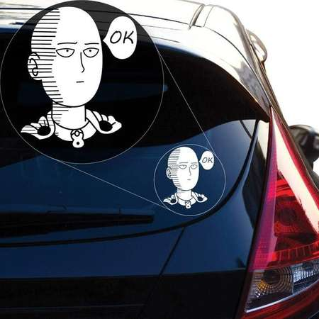 Saitama Decal, One Punch Man Sticker, Anime Decal, Dragon Ball Z Decal thumb