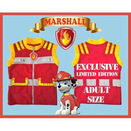 Paw Patrol inspired cotton twill vests Ryder Marshal Chase Skye