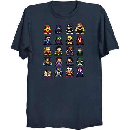 8-Bit TEEN TITANS GO! T-Shirt Retro Style Shirt dc Comics Cyborg Starfire Raven Beast Boy Robin Slade Terra Hive thumb