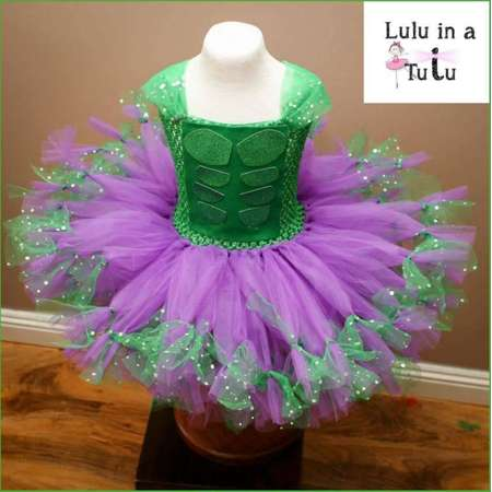 DELUXE The Incredible Hulk Inspired Tutu Dress Girls Costume Birthday Outfit Christmas Present Dressing Up Outfit Make Believe Superhero thumb