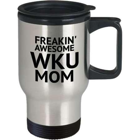 WKU Mom - Western Kentucky University - funny coffee travel mug gift idea, ceramic tea coco cup present Christmas Birthday Mothers Day Gift thumb