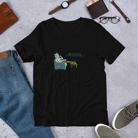03735a6e9ae241 Rick watches TV - (Rick and Morty) Short-Sleeve Unisex T-Shirt